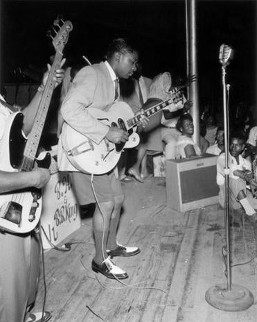 "Ernest C. Withers's ""B.B. King, Hippodrome, Beale Street, Memphis, 1950."""